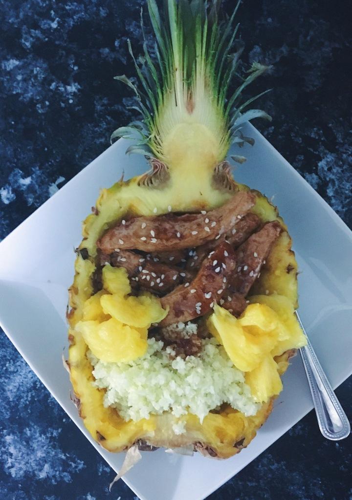 Teriyaki Pineapple Bowls